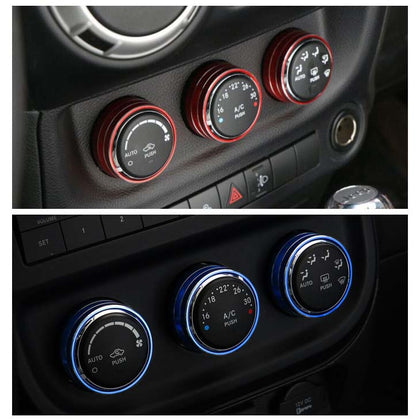 Aluminum Alloy Switch Knob Ring Cover Trim For Jeep Wrangler JK 2012-2017