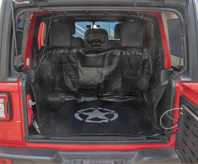 Trunk Cargo Liner Cover Storage Pet Hammock For Jeep Wrangler JK 07-17
