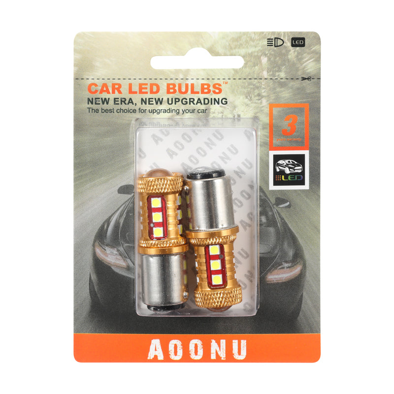 1157 Plug 3030 15SMD Car LED Light Bulb