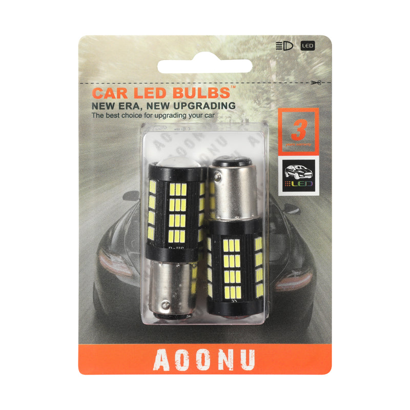1157 Plug 4014 66SMD Car LED Light Bulb