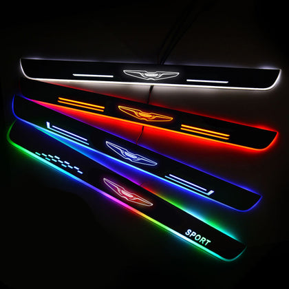 Chrysler Enhanced Car Door Sill Protector | Led Door Sills | Welcome Pedal - Car Lighting Accessories