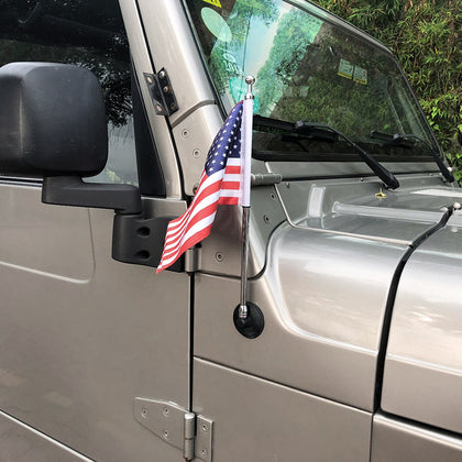 Jeep Wrangler TJ 97-07 Series Zinc Alloy Antenna With American Flag