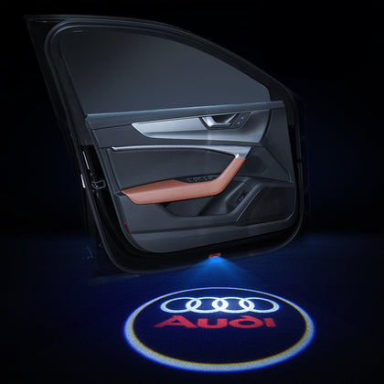Audi Car LOGO Door Lights | Welcome LED Laser Projector - Car Atmosphere Light Upgrade