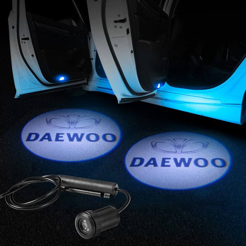 Daewoo Compatible Car LED Door LOGO Projector | Ghost Shadow Lights - Lighting Decoration Modify