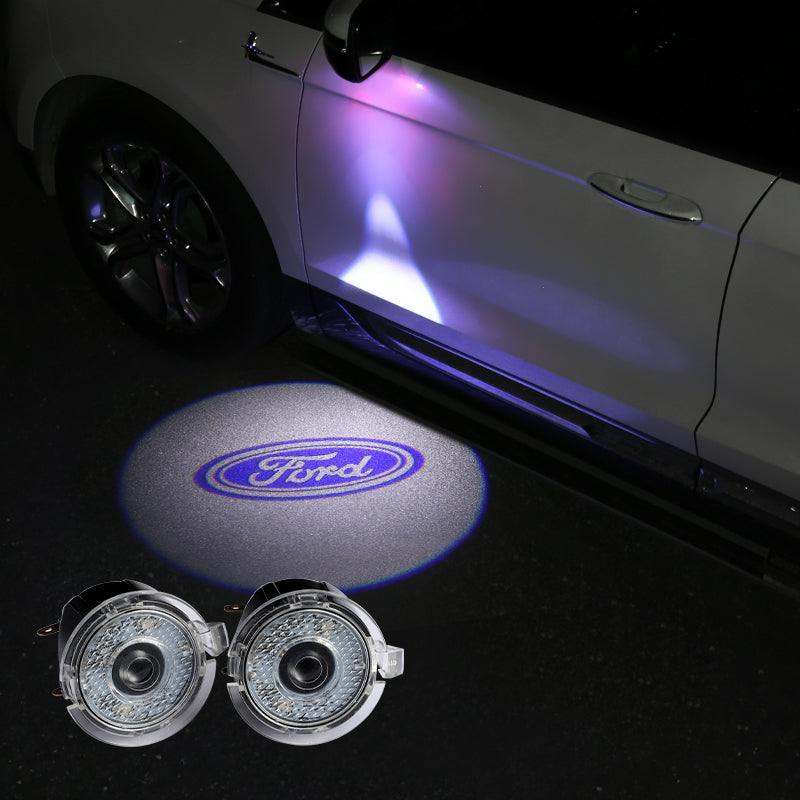 Ford Outer Rearview Mirror Projector Lights | LED Welcome Laser LOGO Light - Car Lamp Accessories