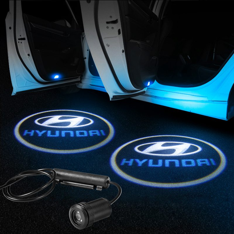 Hyundai Car LED Door Projector Light | Door LOGO Welcome Lights - Lighting Decoration Upgrade