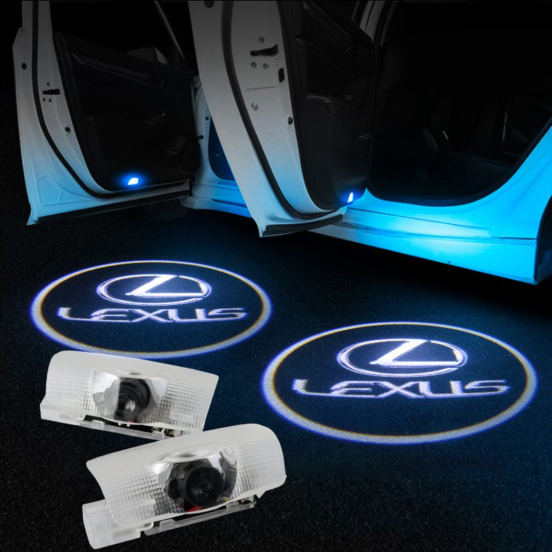Lexus Compatible Car Door Projector Lights | LED Welcome Laser Door LOGO Light - Car Light Accessories