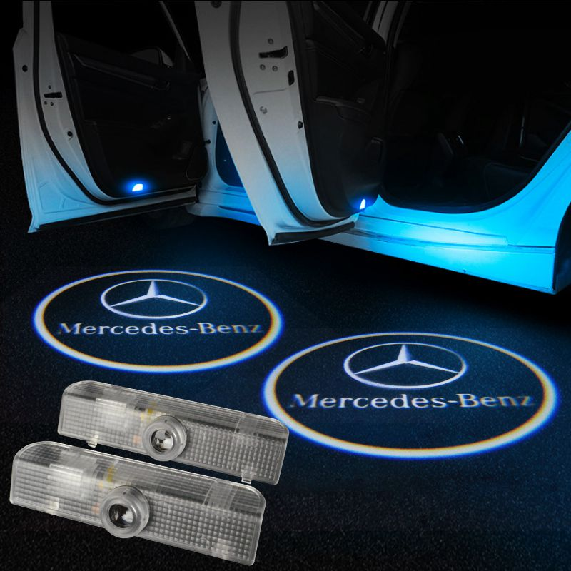 Mercedes Benz Car LED Door LOGO Projector | Ghost Shadow Lights - Lighting Decoration Modify