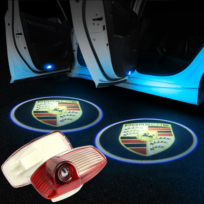Porsche Car Door LOGO Projector Lights | LED Decoration Light - Car Light Accessories Upgrade