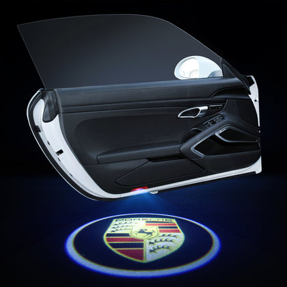 Porsche Compatible Car Door LOGO Projector Lights | LED Decoration Light - Car Light Accessories Upgrade