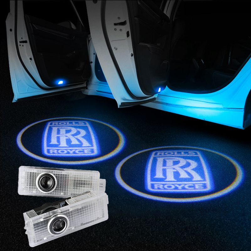 Rolls-Royce Car Door LED LOGO Projector Light | Glowing Emblem - Car Light Upgrade