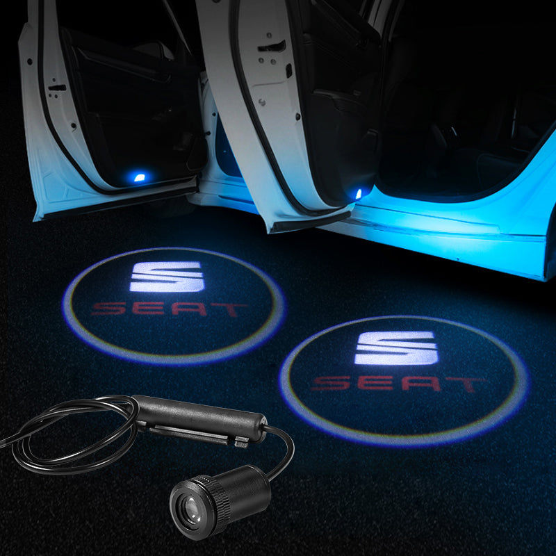 Seat Car Door LOGO Lights | Ghost Shadow LED Welcome Laser Projector - Car Accessories