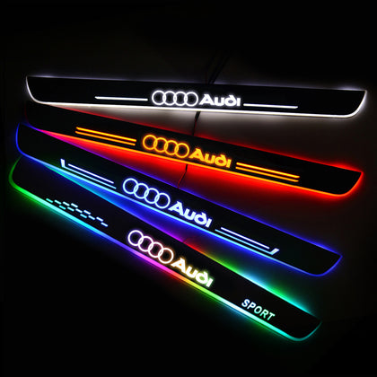 Audi New Door Sill Scuff Plate | Illuminated Door Sills - Car Lighting Accessories