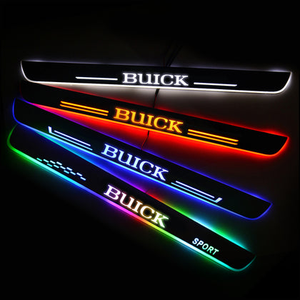 Buick Car Customized Illuminated Door Sills | Door Sill Replacement For Car Upgrade