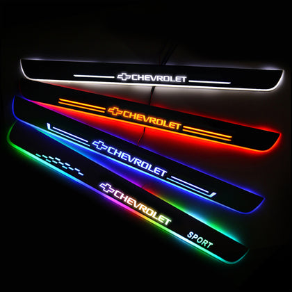 CHEVROLET New Door Sill Scuff Plate | Illuminated Door Sills - Car Lighting Accessories