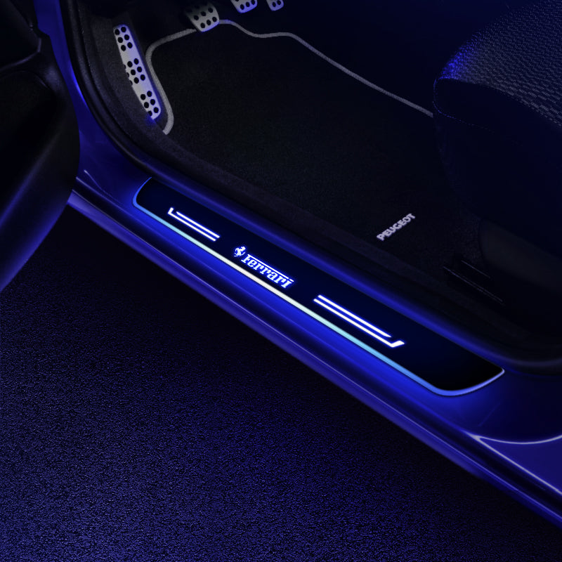 Ferrari Upgrade Led Door Side Sill Step | Door Sills Plate - Car Accessories