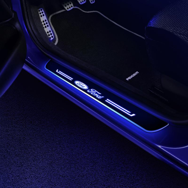 Ford Customizer LED Door Sill Powered By AA