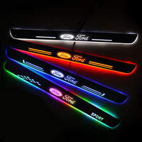 Ford Compatible Customized Luminous Door Sill Pan | Door Sills Guards For Car Light Modification