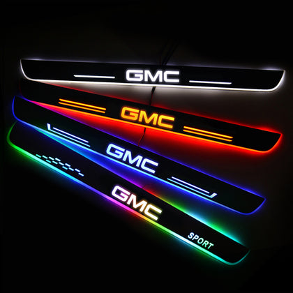 GMC Enhanced Car Door Sill Protector | Led Door Sills | Welcome Pedal - Car Lighting Accessories