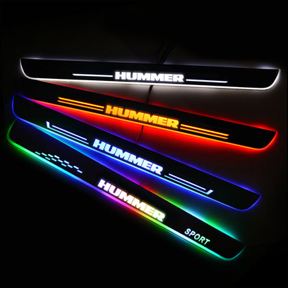 HUMMER New Door Sill Scuff Plate | Illuminated Door Sills - Car Lighting Accessories