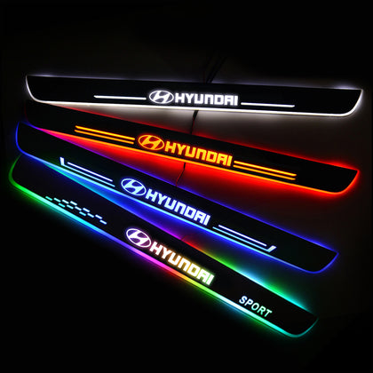 Hyundai Customized Luminous Door Sill Pan | Door Sills Guards For Car Light Modification