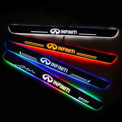 Infiniti Enhanced Car Door Sill Protector | Led Door Sills | Welcome Pedal - Car Lighting Accessories