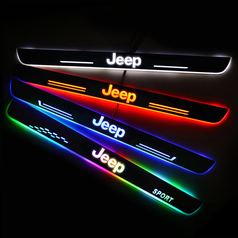JEEP New Door Sill Scuff Plate | Illuminated Door Sills - Car Lighting Accessories