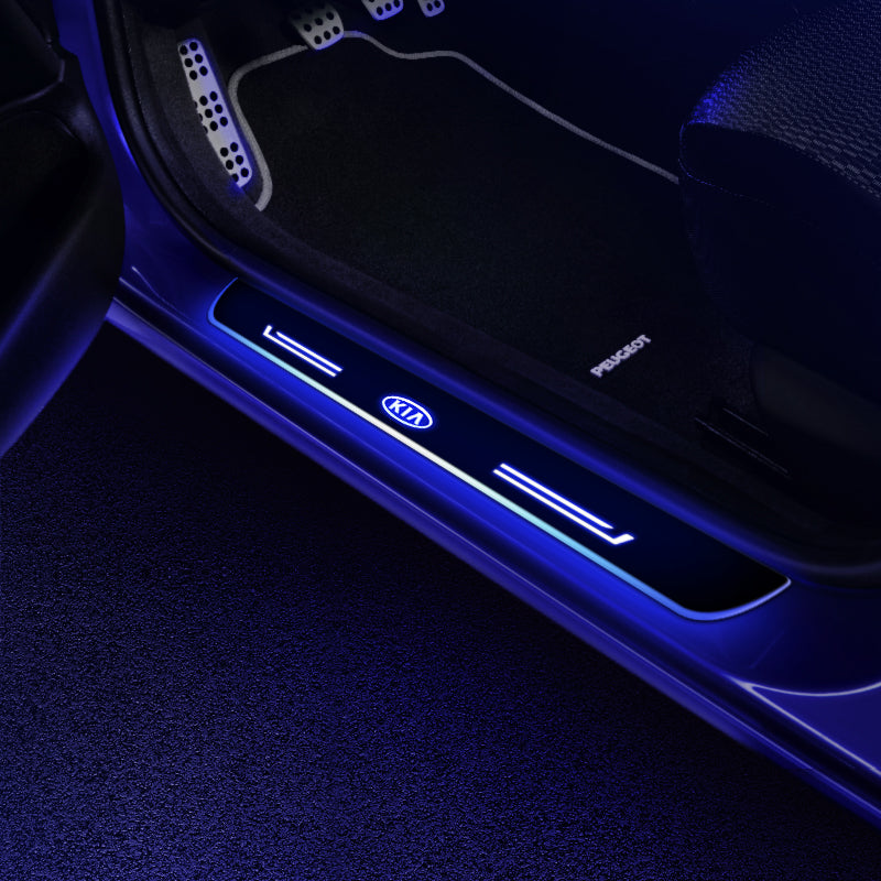 Kia Customized Luminous Door Sill Pan | Door Sills Guards For Car Light Modification
