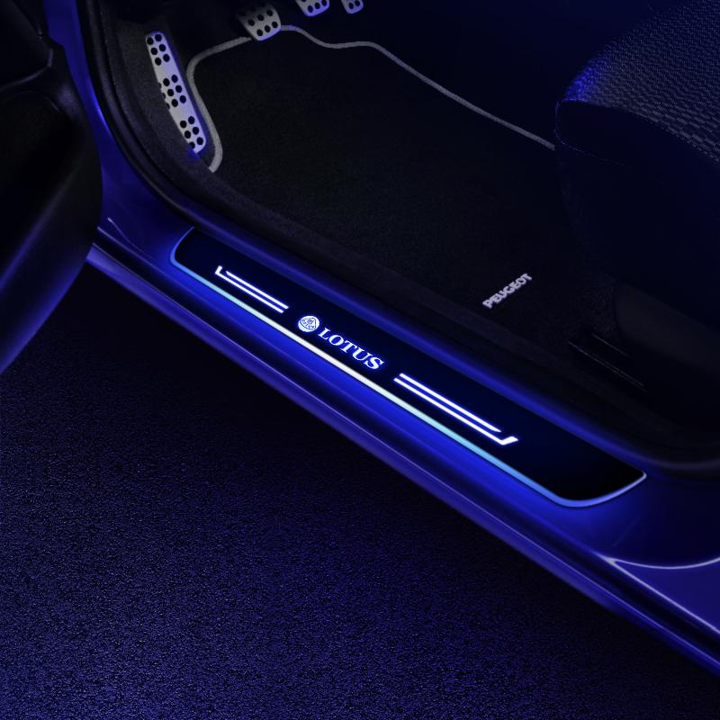 Lotus Door Sills Plate | Batteries Powered Door Sill Trim Illuminated For Car light modification