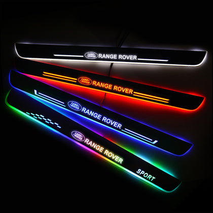 Land Rover Car Customized Illuminated Door Sills | Door Sill Replacement For Car Upgrade