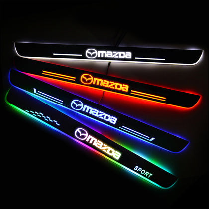 MAZDA Upgrade Led Door Side Sill Step | Door Sills Plate - Car Accessories