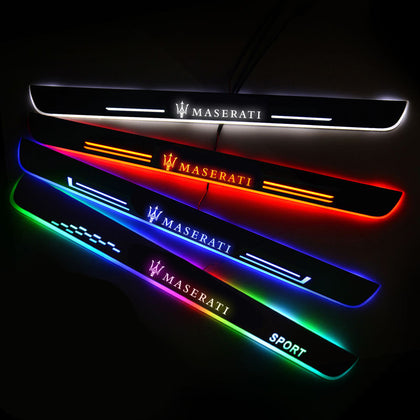 Maserati Customized Luminous Door Sill Pan | Door Sills Guards For Car Light Modification