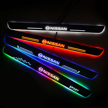 Nissan Enhanced Car Door Sill Protector | Led Door Sills | Welcome Pedal - Car Lighting Accessories
