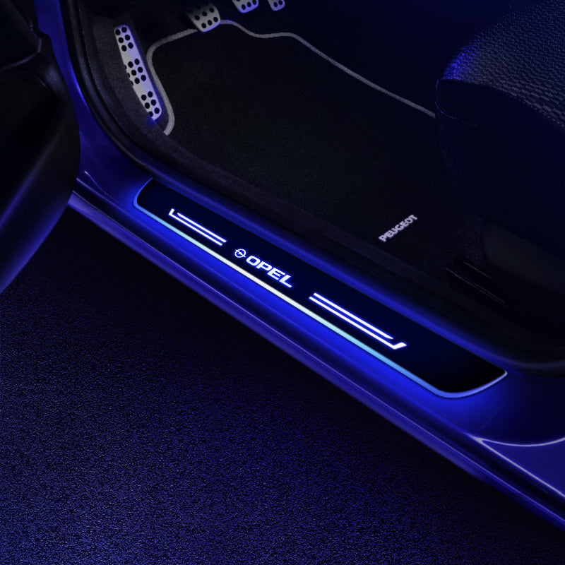 OPEL Upgrade Led Door Side Sill Step | Door Sills Plate - Car Accessories