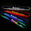 Skoda Upgrade Led Door Side Sill Step | Door Sills Plate - Car Accessories