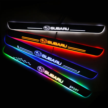 Subaru Enhanced Car Door Sill Protector | Led Door Sills | Welcome Pedal - Car Lighting Accessories