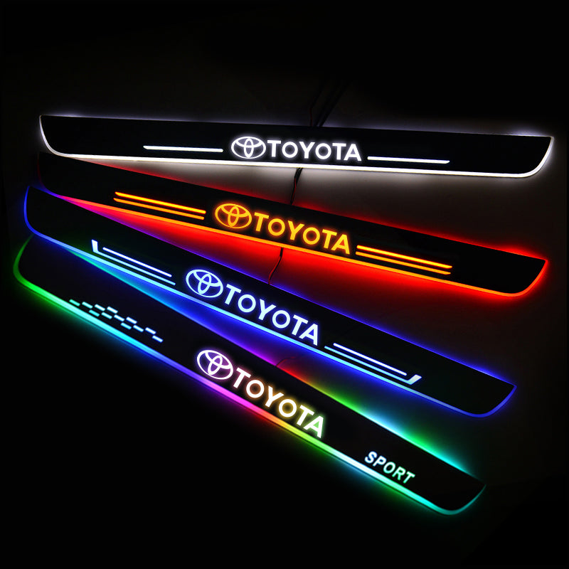 Toyota New Door Sill Scuff Plate | Illuminated Door Sills - Car Lighting Accessories
