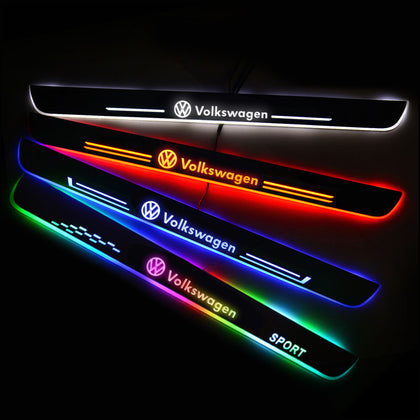 Volkswagen VW Car Customized Illuminated Door Sills | Door Sill Replacement For Car Upgrade