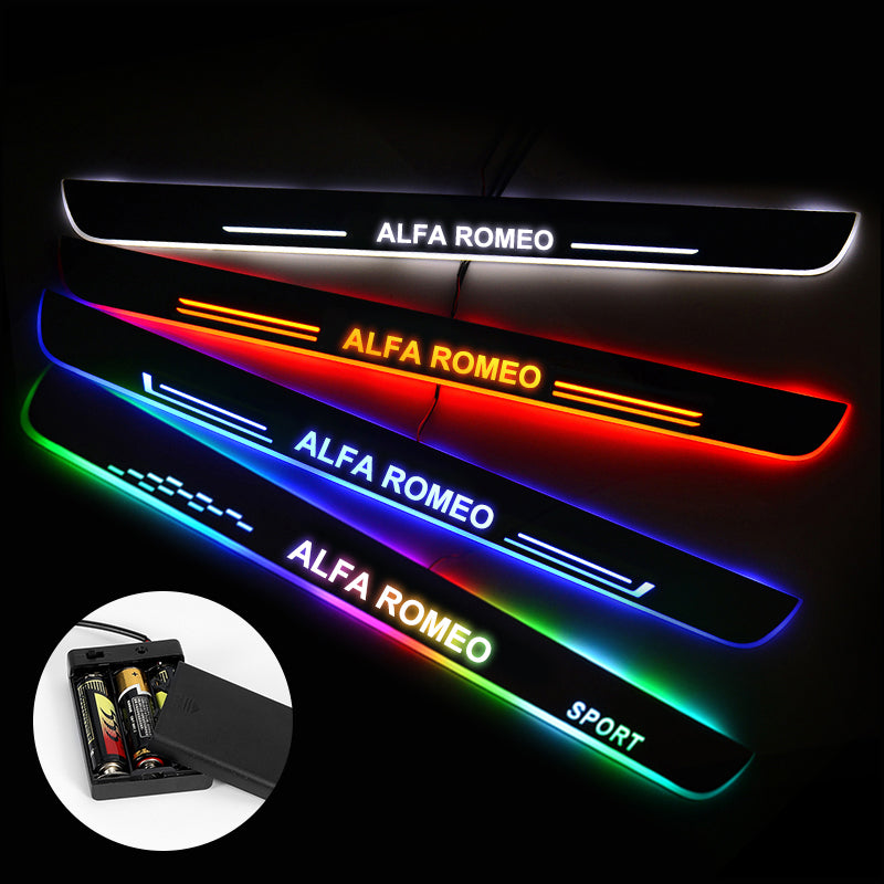 Alfa Romeo Car Door Sills Exterior | Door Sill Guard | Light Accessories Power By Batteries