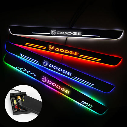 Dodge Compatible Car Door Sills Exterior | Door Sill Guard | Light Accessories Power By Batteries