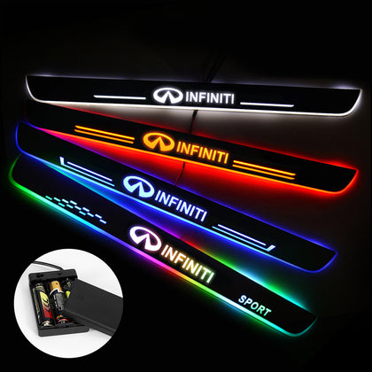Infiniti Compatible Batteries Powered Door Sill Threshold | Lighted Door Sills | Car Light Accessories