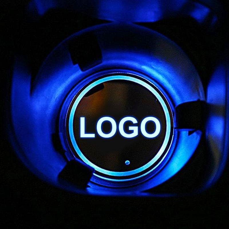 Skoda LED Car Logo Coaster 2pcs