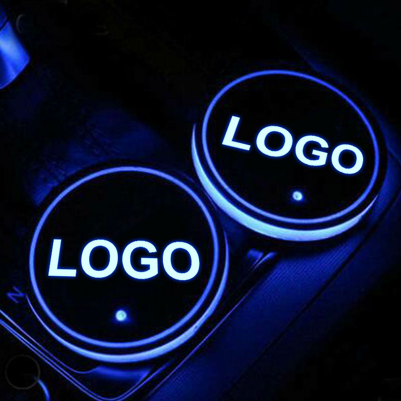 PONTIAC LED Car Logo Coaster 2pcs