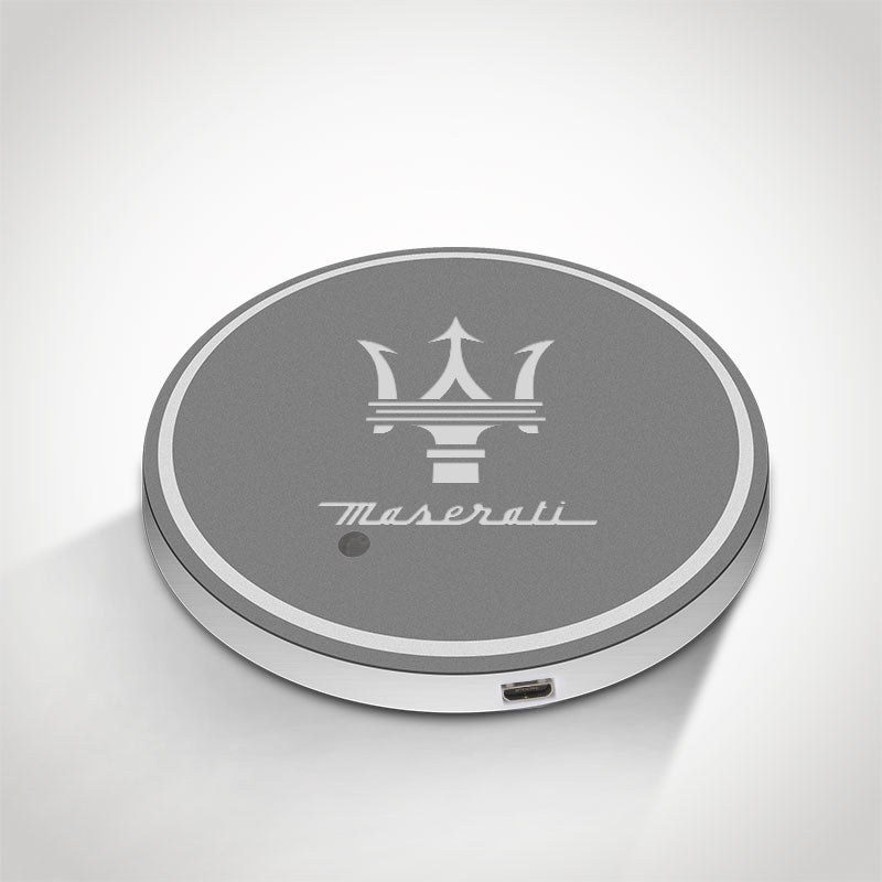 Maserati LED Car Logo Coaster 2pcs