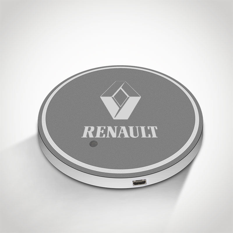 Renault LED Car Logo Coaster 2pcs