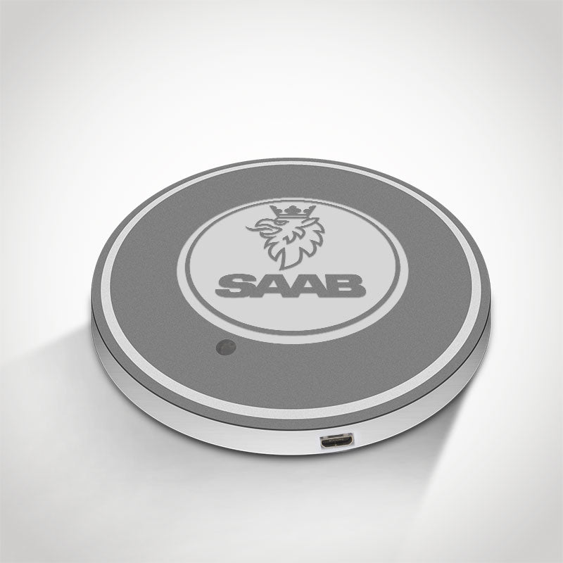 SAAB LED Car Logo Coaster 2pcs