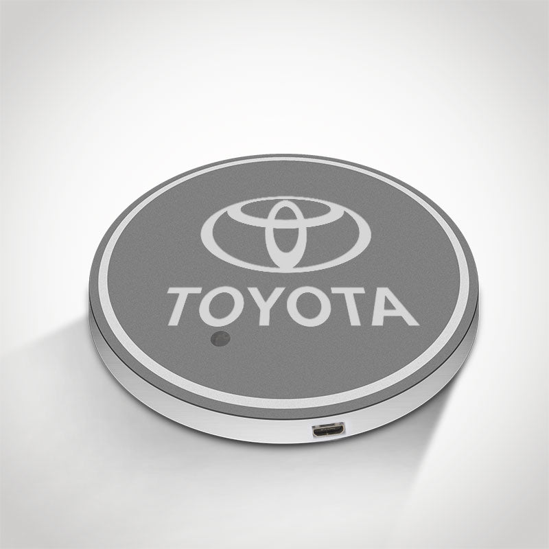 Toyota LED Car Logo Coaster 2pcs