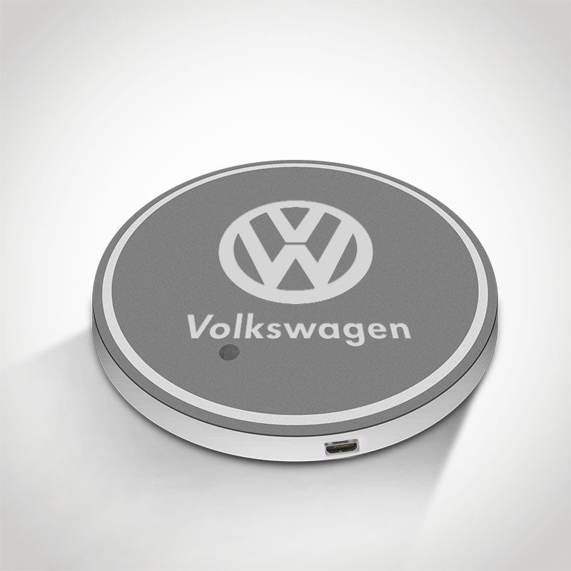 Volkswagen LED Car Logo Coaster 2pcs