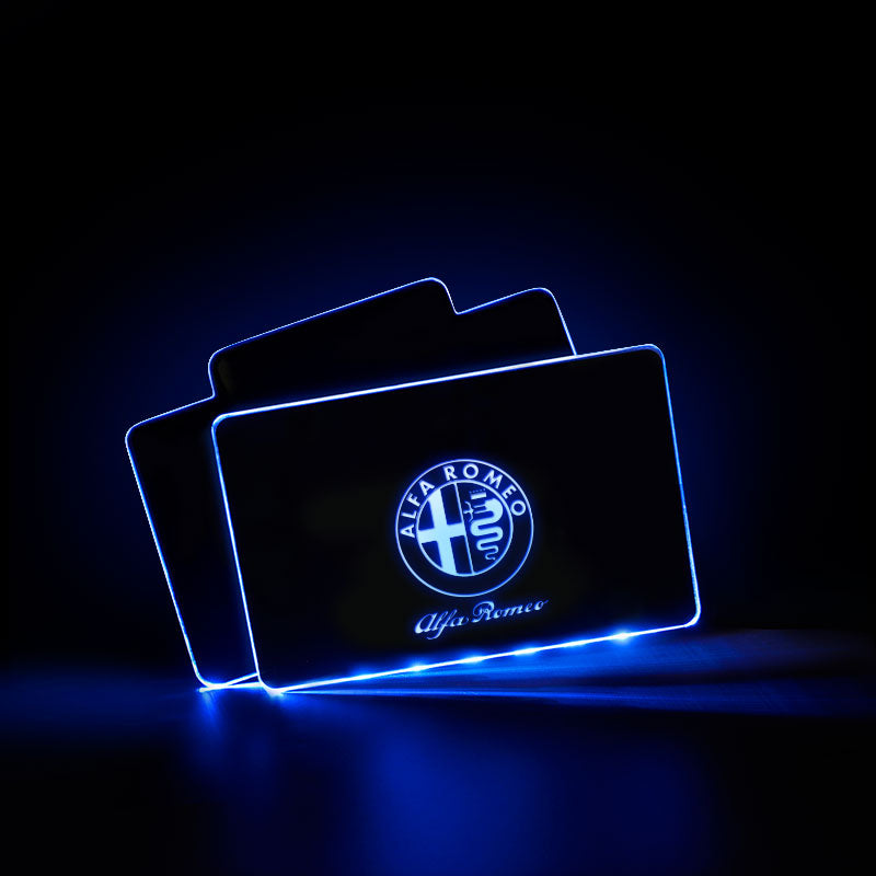 Alfa Romeo Vehicle Illuminated Floor Mat Car Interior Lighting Decoration - Atmosphere Lights