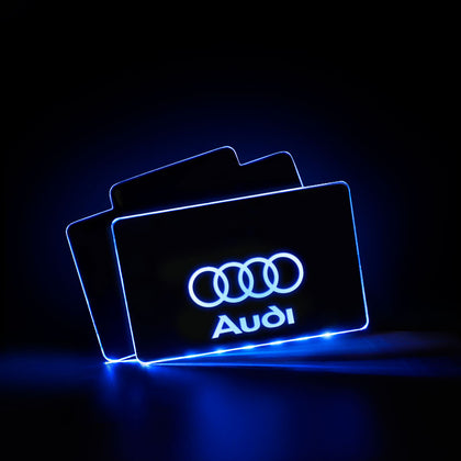 Audi LED Car Floor Mats | Automobile Mat - Lighting Decoration Upgrade The Car Interior